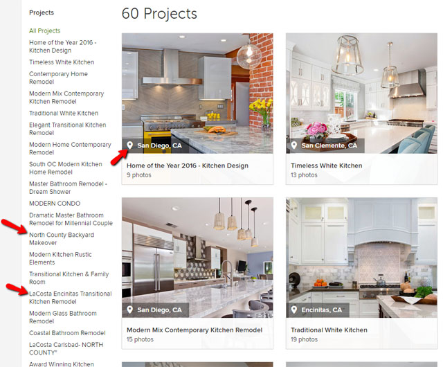 Naming Houzz Projects